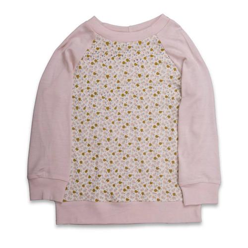Little Periam - Raglan Top : Blush & Floral Print
