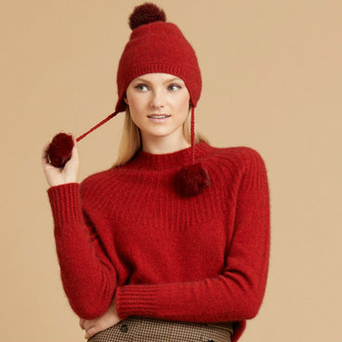 869673f305e McDonald - Possum   Merino Rib Hat with Pleated Top - The Tin Shed