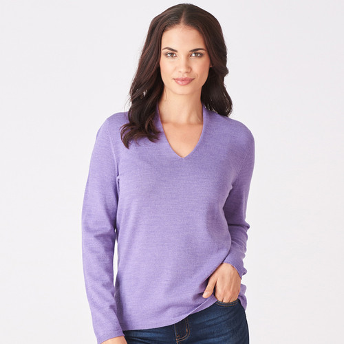 Royal Merino - Long Sleeve Classic High Vee (Made To Order Only)
