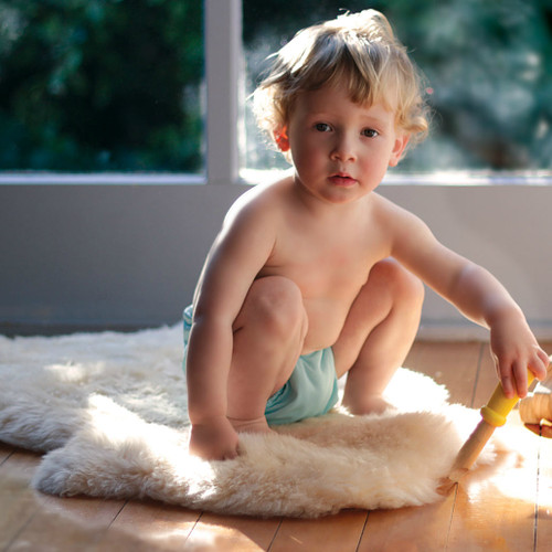 Bowron Long Wool Lambskin Baby Comforter