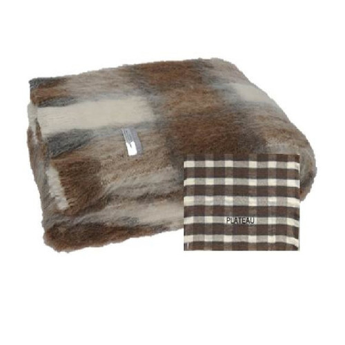 Windermere Natural Brushed Alpaca Throw - Plateau