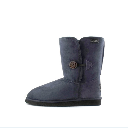 Canterbury Sheepskin 'Tara' Mid Calf Sheepskin Buttoned Boot