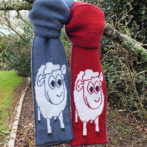 Cosy Kiwi - Merino & Possum Little Lamby Child's Scarf