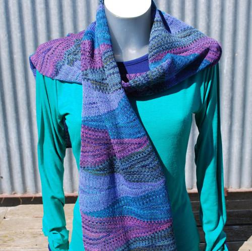 Little Wool Company Hand Dyed Merino Scarf - Paua