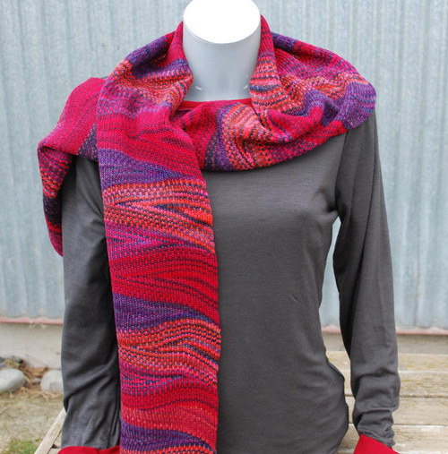 Little Wool Company Hand Dyed Merino Scarf - Crimson/Red