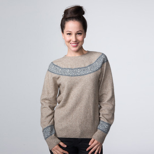 Possumdown Merino - Possum Beaujolais Fairisle Sweater