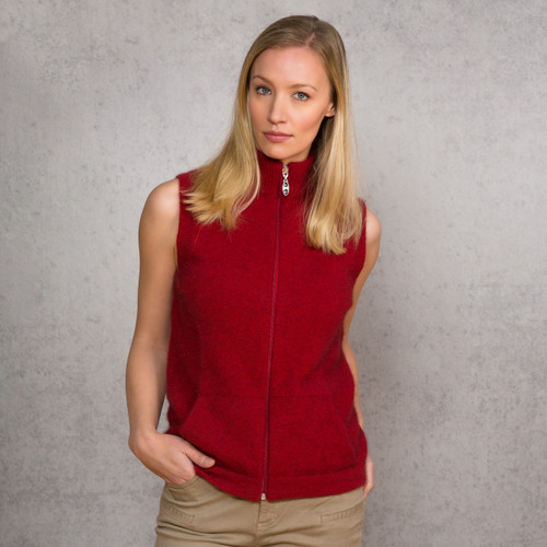 Noble Wilde - Merino & Possum Gilet  Zip Vest