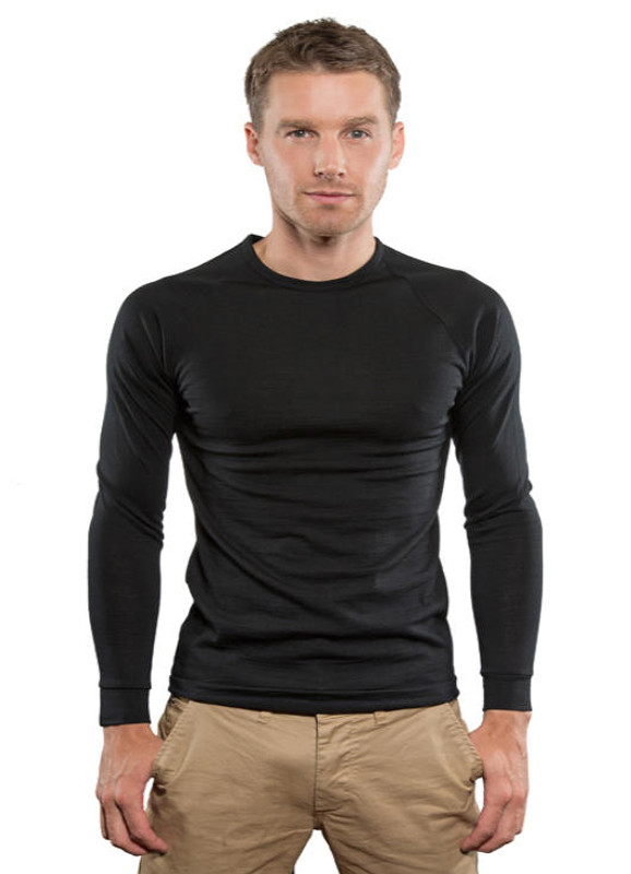 43bbf7099df4d Brass Monkey Merino Mens Long Sleeve Crew Neck Thermal Top - The Tin ...
