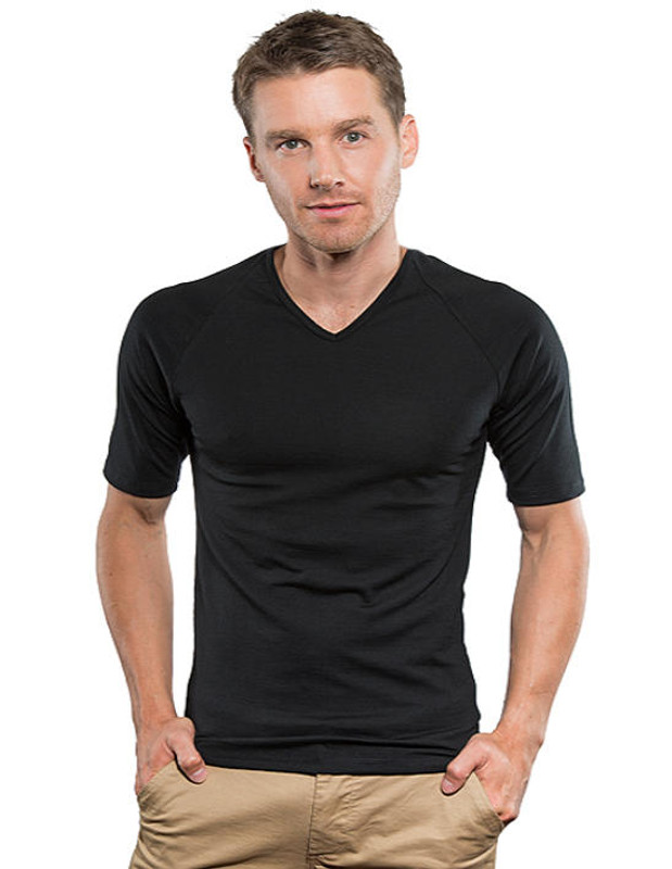 bd7b211cbb27 Brass Monkey Merino Mens Thermal Short Sleeve V Neck Top - The Tin Shed