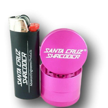 The Santa Cruz Shredder is here! Made from medical grade aluminium, this thing will SHRED your herb kindly!