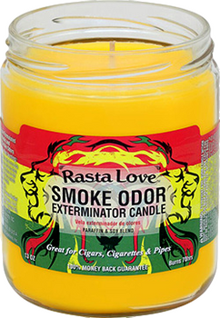 13OZ RASTA LOVE ODOR EXTERMINATOR CANDLE