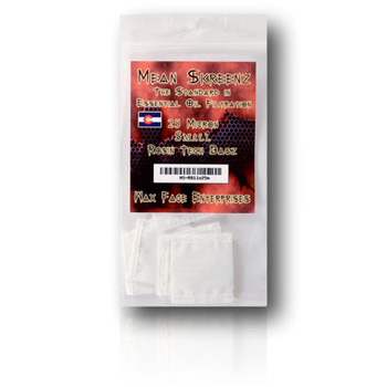 "Mean Skreens 25 Micron Rosin Bags - 1x1"" 7-pack."
