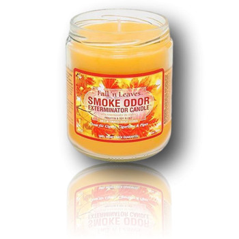 Smoke Odor Candle - 13oz Fall n' Leaves Scent.