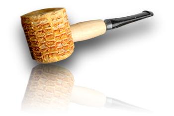 Varnished Corn Cob Pipe.