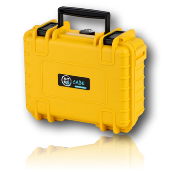 """The STR8 Case from STR8BRAND! Yellow 10"""" Case.  Case shell made of ultra high-impact polypropylene (PP) Strong, dustproof, waterproof (IP67 certified) Fully customizable interior with pre-cut foam Temperature resistant from -40° up to +176° F Stackable Lockable with luggage lock sold separately 30 year warranty Automatic air pressure compensation valve"""