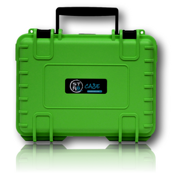 """The STR8 Case from STR8BRAND! Green 8"""" Case.  Case shell made of ultra high-impact polypropylene (PP) Strong, dustproof, waterproof (IP67 certified) Fully customizable interior with pre-cut foam Temperature resistant from -40° up to +176° F Stackable Lockable with luggage lock sold separately 30 year warranty Automatic air pressure compensation valve"""