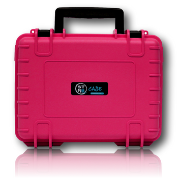 "The STR8 Case from STR8BRAND! Pink 10"" Case.  Case shell made of ultra high-impact polypropylene (PP) Strong, dustproof, waterproof (IP67 certified) Fully customizable interior with pre-cut foam Temperature resistant from -40° up to +176° F Stackable Lockable with luggage lock sold separately 30 year warranty Automatic air pressure compensation valve"