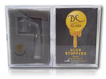 DC Glass Globstopper - 14mm Female , 90 Degree. Regular Size.