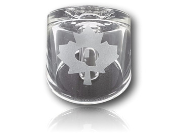 DC Glass - Q Heffner Carb Cap. XL Cap in Clear or Frosted.