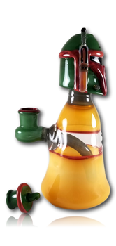 Catalyst Glass - 'Boba Fett' Banger Hanger w/Carb Cap.