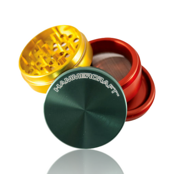 "HAMMERCRAFT 2.25"" RASTA MEDIUM 4 PIECE GRINDER / POLINATOR"