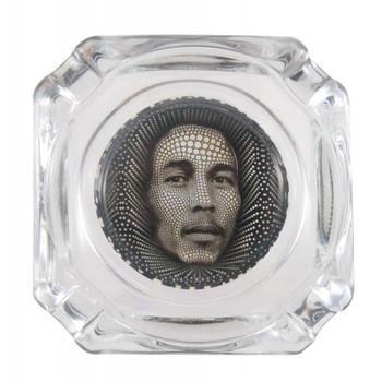 """3.75"""" Decal Ashtray - Bob Marley."""
