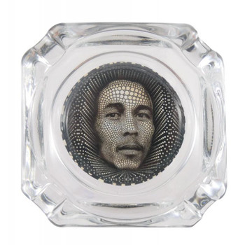 "3.75"" Decal Ashtray - Bob Marley."