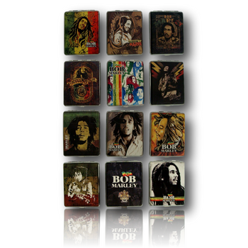 Bob Marley Leather Cigarette Case - Various Designs.