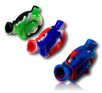 Silicone Blunt Bubbler - 'Snail' Style.
