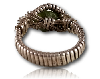 Dylan Wallace - Green Gem Wire Wrapped Ring.