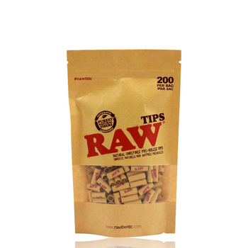 RAW TIPS PRE-ROLLED 200 Count