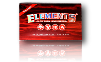 Elements Rolling Papers - Red - 100 Leaves per Pack. Regular Size.