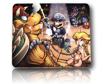 "Dab Padz 7.5"" x 9"" - Bowser & Mario Design."