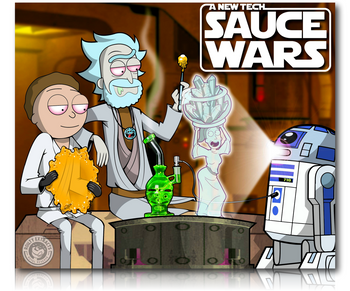 "7.5"" X 9"" Dab Padz - 'New Tech : Sauce Wars' Design."
