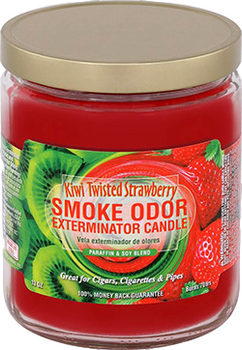 13OZ KIWI TWISTED STRAWBERRY ODOR EXTERMINATOR CANDLE