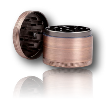 Aluminium CNC Herb Grinder - 63mm Size w/Magnetic Lid and Herb Catch.