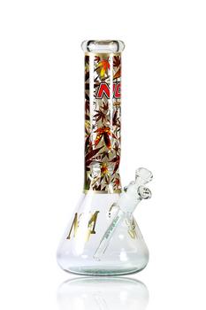 """12"""" NICE GLASS MARIHUANA 420 BOTTOM BEAKER"""