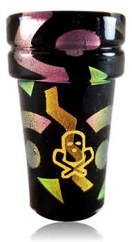 Ski Mask Glass - Bayside Soda Double Cup Signed by the artist(s) and numbered, these are truly one-of-a-kind collectables!
