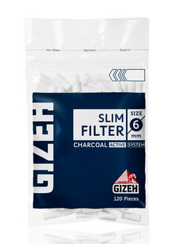 GIZEH ROLL-UP FILTER CHARCOAL 6MM