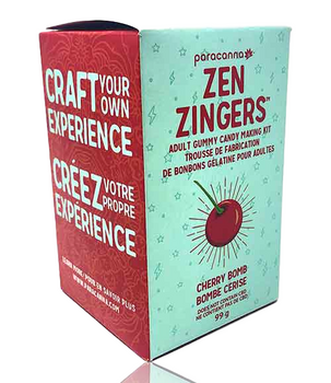 PARACANNA ZEN ZINGERS GUMMY MAKING KIT - CHERRY BOMB
