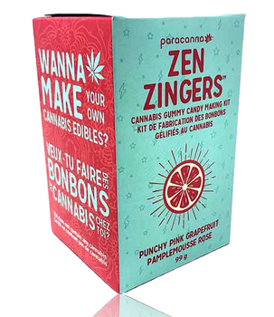 PARACANNA ZEN ZINGERS GUMMY MAKING KIT PUNCHY PINK GRAPEFRUIT