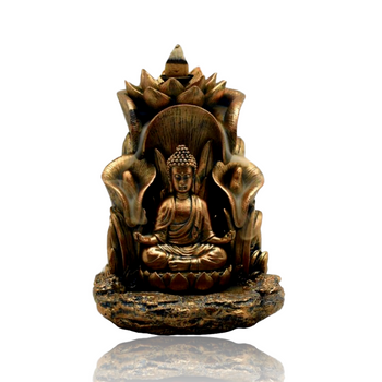 "5.5"" x 5"" BIG BUDDHA BACKFLOW INCENSE BURNER"