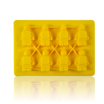 DOPE MOLDS 8 X ROBOT SILICONE MOLD - YELLOW