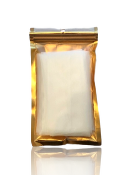 """2.5"""" x 4.5"""" CLEARLY GOLD 90 MICRON POLYAMIDE ROSIN BAGS - 25 PACK"""