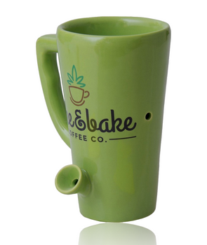 8OZ CERAMIC TALL PIPE MUG - WAKE N BAKE