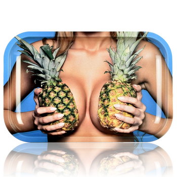 """PULSAR 11"""" X 7"""" ROLLING TRAY - PINEAPPLES"""