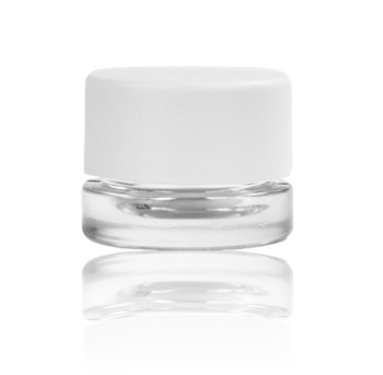 5ML WHITE CAP THICK WALL GLASS CONCENTRATE CONTAINER SCREW TOP