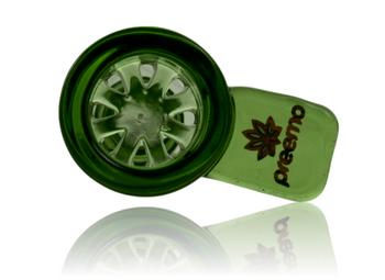 PREEMO GLASS 14MM GREEN COLOUR SCREEN BOWL
