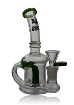 "6"" NICE GLASS JADE GREEN MINI SAXO REACHOUT CAN"
