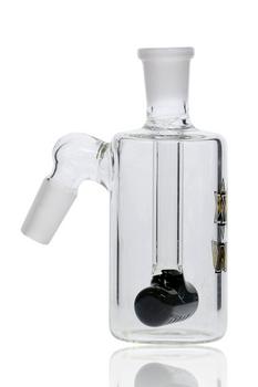 14MM NICE GLASS BLACK INLINE TUBE ASHCATCHER